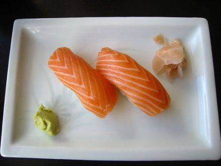Beispielsweise Sushi wird gerne mit Ingwer gereicht. © Flickr / adactio